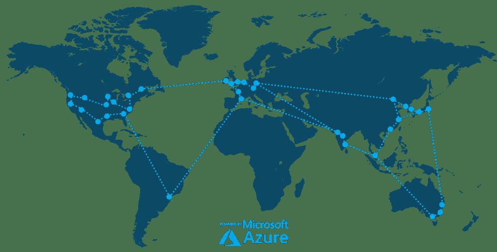 Microsoft Azure map