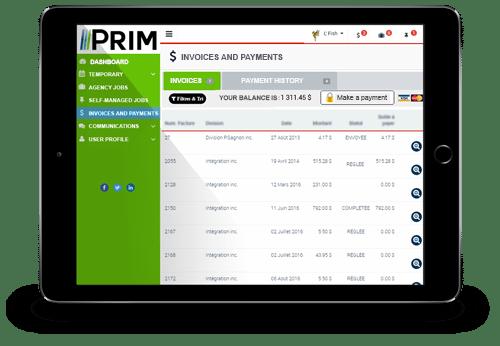 Prim Web tablette