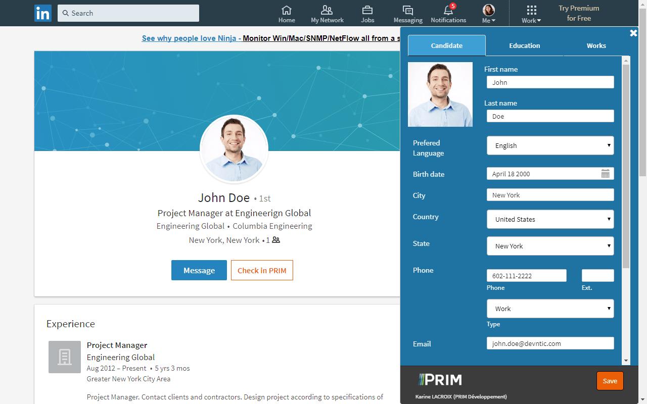 Capture d'écran Q-Link